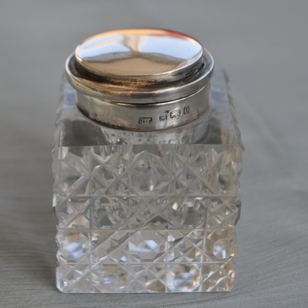 Silver topped Inkwell