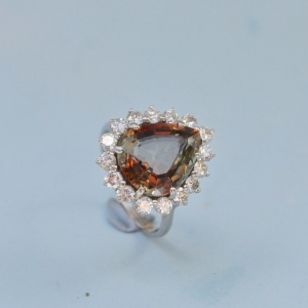18ct Imperial Topaz Ring