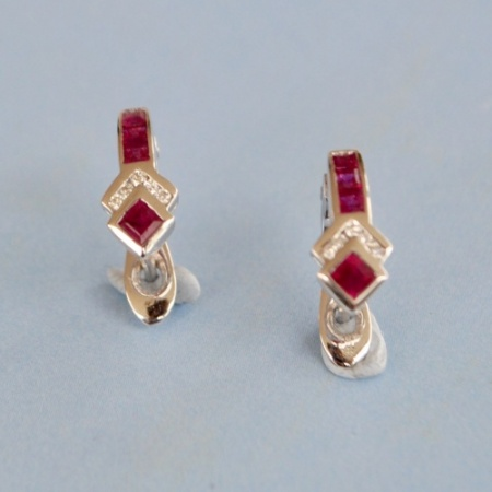 White Gold Ruby and Diamond