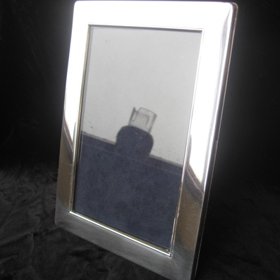 Silver Frame with Wooden Back