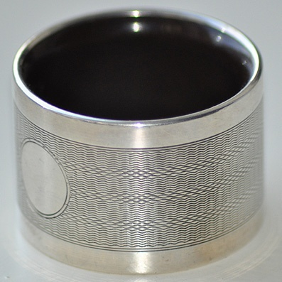 A Birmingham Silver Napkin Ring Dated 1928.