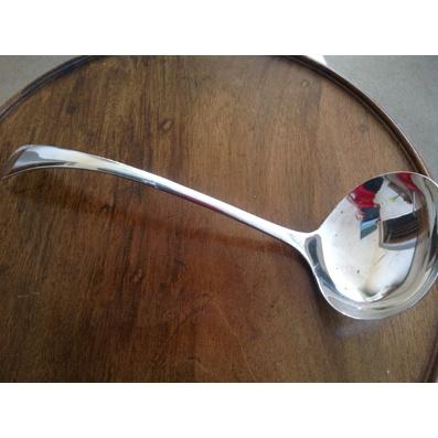 Large Silver Plate Soup Ladle