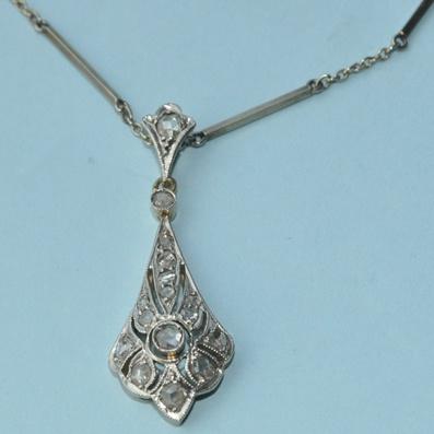 Edwardian Beautiful Piece a Diamond Pendant